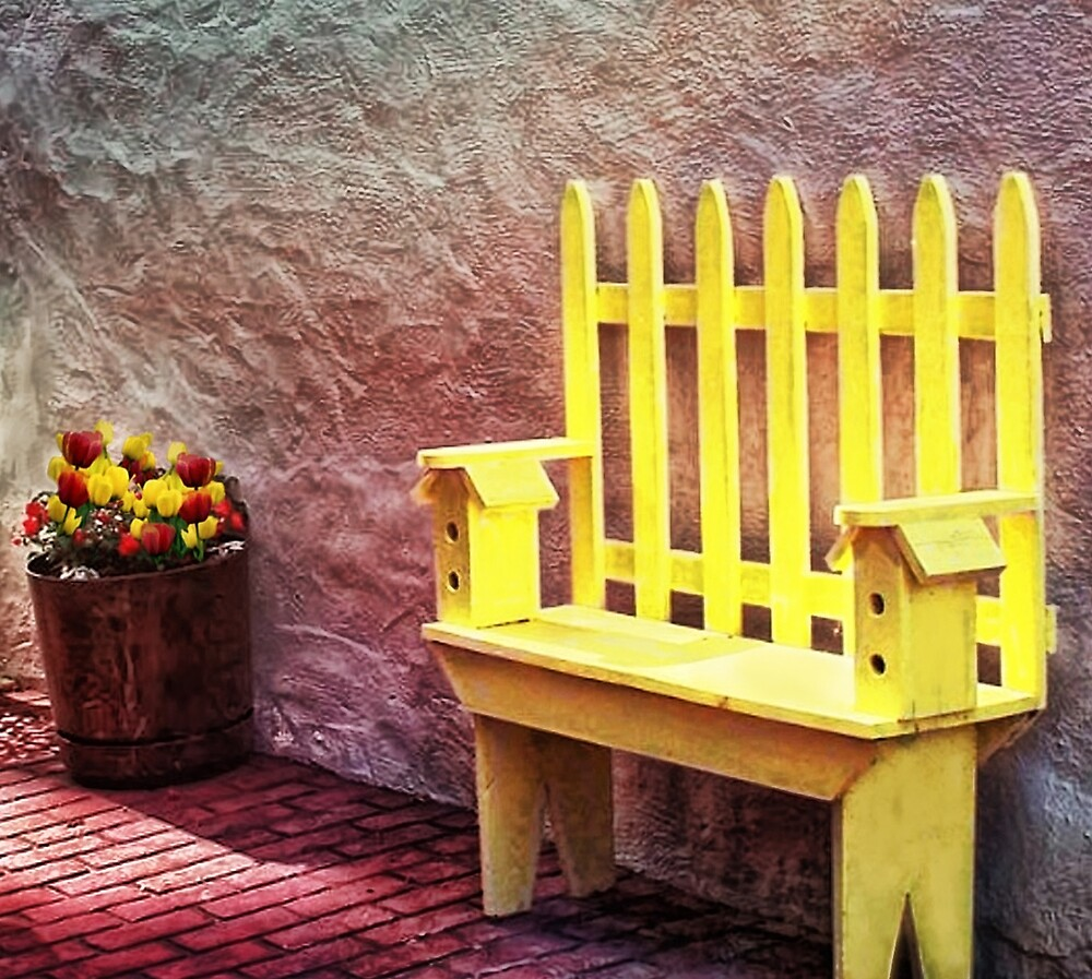 The Bird House Bench by Nadya Johnson