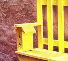 The Bird House Bench Sticker