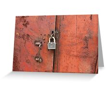 padlock on the door Greeting Card