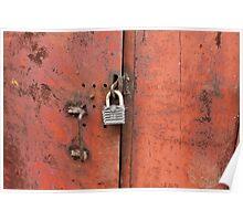 padlock on the door Poster