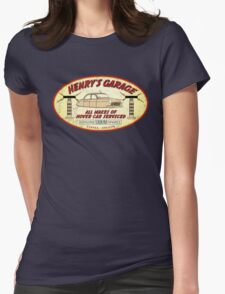 Henry's Garage (Aged) Womens Fitted T-Shirt