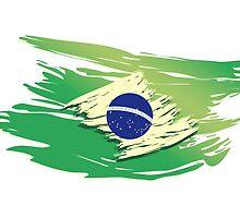 Brazil Torn-style Flag by JayCorz