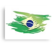 Brazil Torn-style Flag Canvas Print