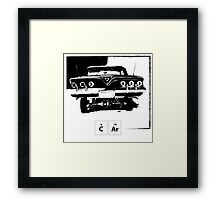 Old Car - Periodic Table Framed Print