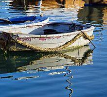 Skiffs ~ Lyme Regis Harbour by Susie Peek