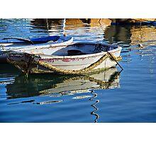 Skiffs ~ Lyme Regis Harbour Photographic Print
