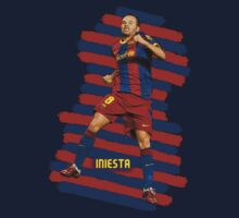 Iniesta - BCN football player Kids Tee