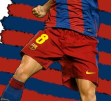 Iniesta - BCN football player Sticker