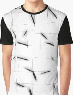 quadrats with diagonal lines Graphic T-Shirt