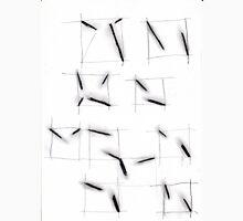 quadrats with diagonal lines Unisex T-Shirt