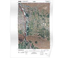 USGS Topo Map Washington State WA Yakima East 20110504 TM Poster