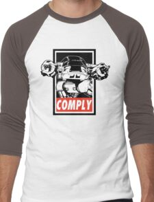 Obey ED-209 Men's Baseball ¾ T-Shirt