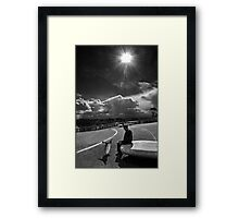 ...and then the next thing I knew... Framed Print