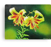 Garden Lilies Canvas Print