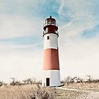 Sankaty Head Lighthouse on the island of Nantucket MA by campyphotos