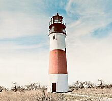 Sankaty Head Lighthouse on the island of Nantucket MA by Mariannne Campolongo