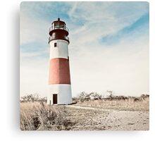 Sankaty Head Lighthouse on the island of Nantucket MA Canvas Print