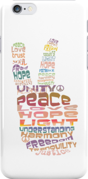 Peace sign iPhone and iPod case by © Cassidy (Karin) Taylor