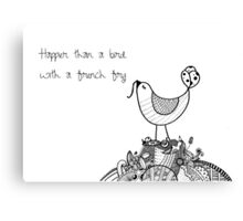 Flockadoodle - Bird with a French Fry Canvas Print