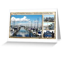Port of Everett Marina Area Greeting Card