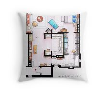 Carrie Bradshaw's Apartment Floorplan v.2 Throw Pillow