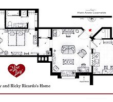 Lucy and Ricky Ricardo home from 'I LOVE LUCY' by Iñaki Aliste Lizarralde