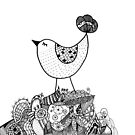 Bird's new nest by flockadoodle