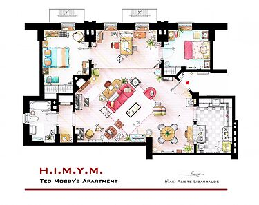 Ted Mosby apartment from 'HIMYM' by Iñaki Aliste Lizarralde