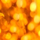 Gold light blur circles abstract design by Marianne Campolongo