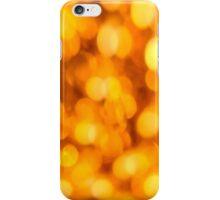 Gold light blur circles abstract design iPhone Case/Skin