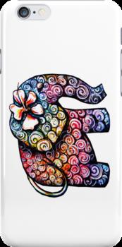 Tattoo Elephant TShirt by © Karin Taylor