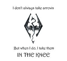 Skyrim - In the Knee Photographic Print