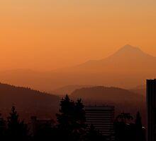 Morning Over Portland by Don Schwartz