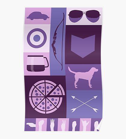 purple minimalist Poster