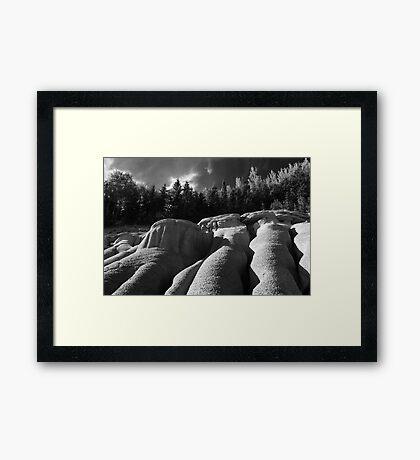 Unnatural Formations Framed Print