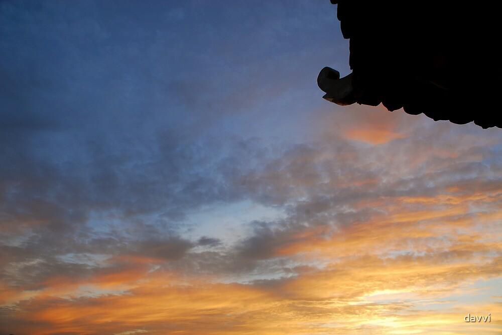 sunset by davvi
