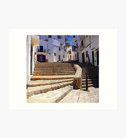 Ibiza Old Town Art Print