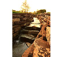 A Sunny Canal Photographic Print