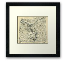 March 22 1945 World War II Twelfth Army Group Situation Map Framed Print