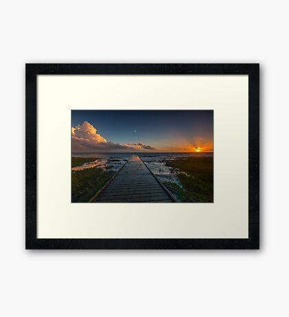 Lytham Jetty Sunset Framed Print