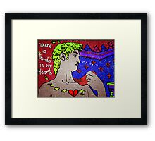 "There Is Thunder In Our Hearts"" Framed Print"