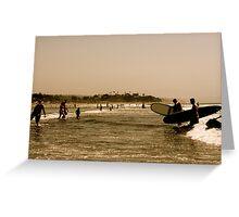 San Diego Surfing Greeting Card