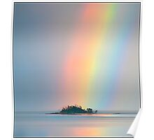 Rainbow off Mission Beach Poster
