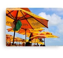 Orange Umbrellas in Brazil Canvas Print
