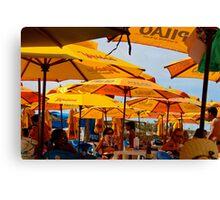 Orange Umbrellas in Brazil 2 Canvas Print