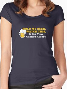 Hold My Beer! Women's Fitted Scoop T-Shirt
