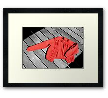 The Red Cardigan Framed Print