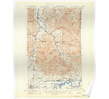 USGS Topo Map Washington State WA Wickersham 244685 1921 62500 Poster