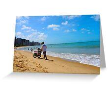 Beach in Brazil 2 Greeting Card