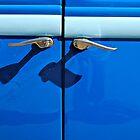 Classic Cars : Blue door by richard  webb